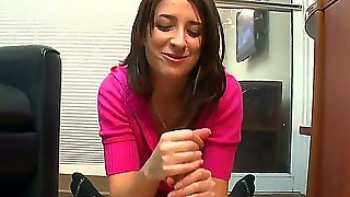 Young Alexa James Is Happy To Touch So Huge Dick With Her Gentle Hands