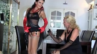 Two Nylon Milf In 69 Position