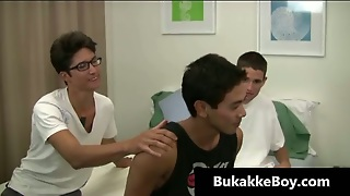 Aroused Gay Teenagers In Gay 3Some