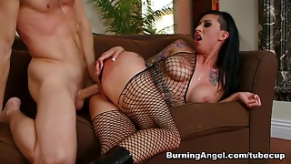 Lily Lane & Michael Vegas In Rip My Fishnets Scene