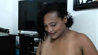 Latina With Big Tits Squirts On Webcam