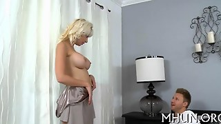 Platinum Blonde Milf Gets Boned By Levi Cash