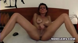 Dirty Mouth Model Masturbates Rough