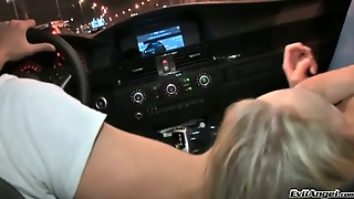 Kinky Blonde Strips In A Car In Amazing Reality Video
