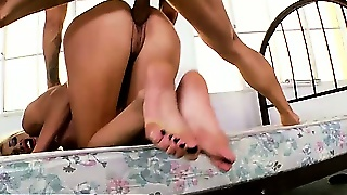 Blonde Footfetish Babe Pussyfucked Deeply