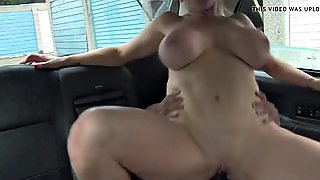 British Bigtitted Cabbie Fucked By Black Guy