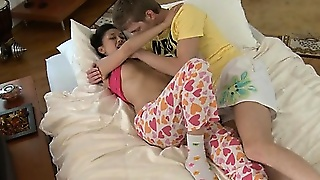Shy Teen Deepthroats Big Cock