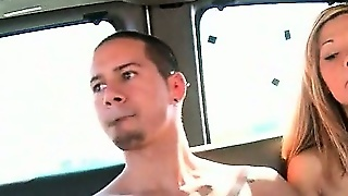 Blindfolded Tattooed Stud Gets Cock Gay Blown In The Bus