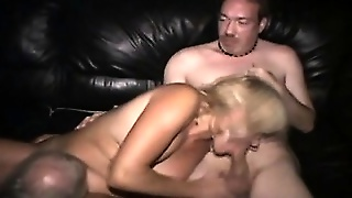 Real Milf Gives Blowjob In Public Cinema
