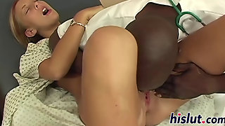 Skinny Blonde Rides On A Bbc