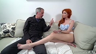 Ginger Russian Beauty Gisha Forza Takes Old Firm Cock Into Fresh Cunt