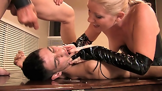 Slave Gets Face And Ass Fucked