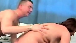 Hairy Cougar With Young Dude