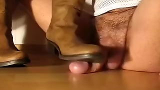 Stimulation And Jizz Flow By Gf  S Boots.