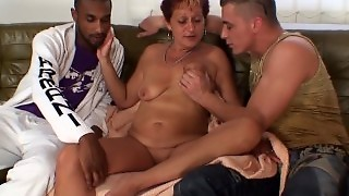 Sexy Grandma Sucks And Rides At Once
