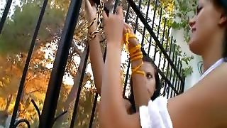 Charming Lezzies Fingering In A Outdoor