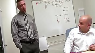 English Stud Fucks Co Worker In Office