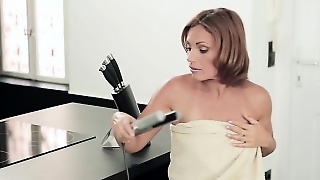 Horny Hot Stepmom Gives A Warm Blowjob