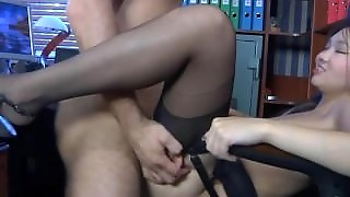 Asian Fucked Doggystyle In Office