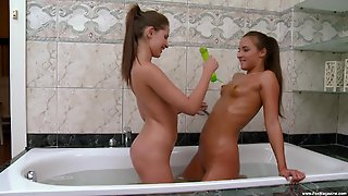 Bathroom Sex Session For Lesbians Amirah Adara And Liona Levi