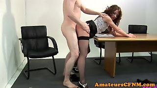Cocksucking Cfnm Babe Drilled From Behind