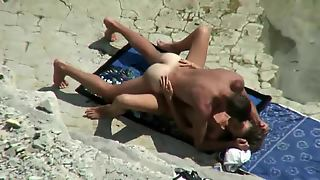 Amateur Couple On A Beach