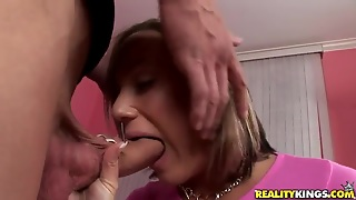 Sexy Young Blondie Is Sucking Chris Strokes Cock