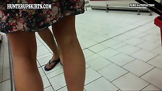 Public Upskirt No Panties