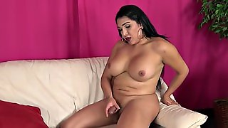 Beautiful Curvy Latin Tgirl Solo Masturbating