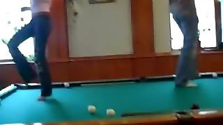 Student Sex Party On The Billiard Table