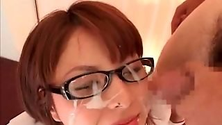 Asian Brunette Gets A Facial