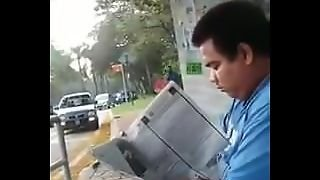 Chub Caught On Video At Public Bus Station