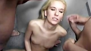 Horny Girl In An Adult Video Store