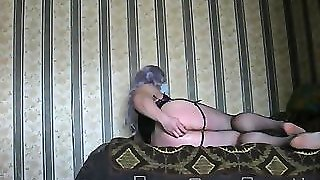 Crossdresser Fucks Herself