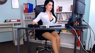 Hot Beauty Office Orgasm