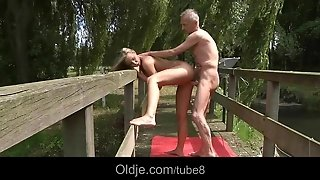 Old Sex Guru Experiencing New Position With A Teen Pussy