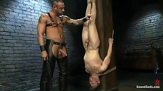 Dominant Hunk Fucking And Whipping A White Twink