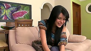 Brunette Beauty Luchy Looks Amazing And She Loves To Have Fun With Pretty Pals. Here Is One Of These Scenes And Now You Should See How Pal Seduces Her To Fuck On Camera.