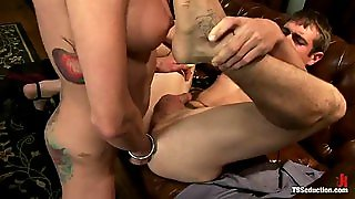 Rough Shemale Sex For A Kinky Tranny