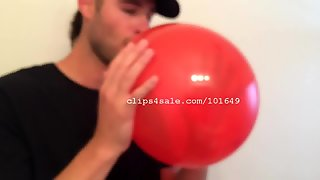 Balloon Fetish - Luke Rim Acres Blowing Balloons