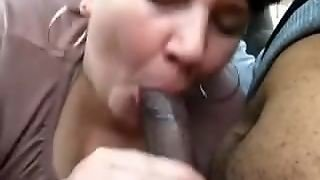 White Mature Woman Sucking Black Cock In Car