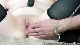 Jessica-Lo Gets A Hands On Pussy Workout With Several Orgasms Along The Way