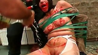 Extreme Bdsm Play With Messy Tied Bitch Video