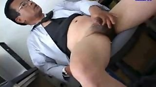 Japanese Big Cock Daddy Solo