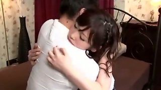 Asian Girl Tied To Bed Getting Her Shaved Pussy Fucked And Stimulated With Toys Mouth Fucked By Guy