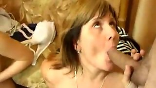 Swingers In Hot Old Vs. Young Group Sex