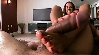 2 Milfs Have A Pleasure One Footjob