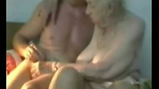 Very Old Grandma Fingered By Young Man.