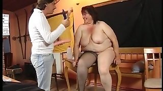 Fat Old Mom Need Dildo Action!