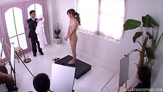 Nude Model Poses For Artists And Gives One Of Them A Blowjob